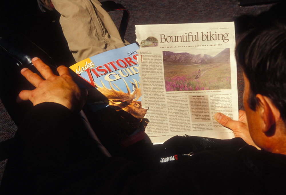 At the Anchorage Airport we picked up a visitor guide that led us to the resurrection trail.