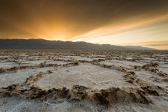Landscape-Badwater-Death-Valley-desert-orange-sun-john-greengo