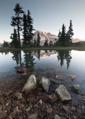 Landscape-Plummer-Peak-Rainer-reflection-rocks-john-greengo