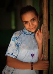 People-Egyptian-Girl-shy-in-doorway-john-greengo